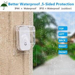 SMATRUL водонепроницаемый чехол для улицы, сильный дождь, снег, беспроводной дверной звонок для дома, дверной звонок, кольцо, кнопка, передатчик для CACAZI