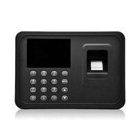 2.4 inç biyometrik parmak izi katılım makinesi Usb parmak tarayıcı zaman kart soyunma ücretsiz yazılım şifre güvenlik Kronometre Bilgisayar ve Ofis -