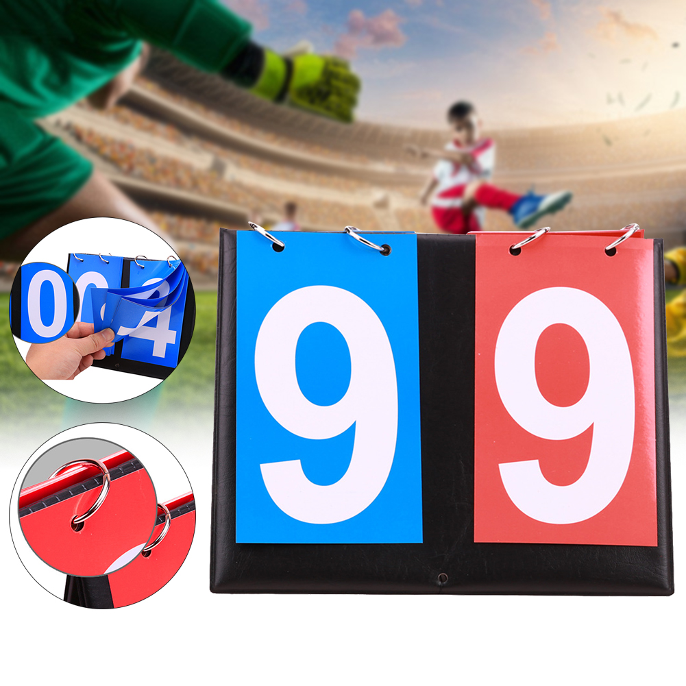 Portable Scoreboard Counter Flip Badminton Competitions Basketball Manual Multi Sports Table Tennis Football 2 Digit Volleyball