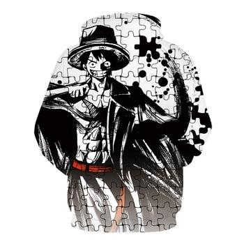 2020 High quality Cool Hoodies Men Women hot 3d Print One Piece Monkey D. Luffy Hoodie   Tops Tee Hot style sports shirt 2
