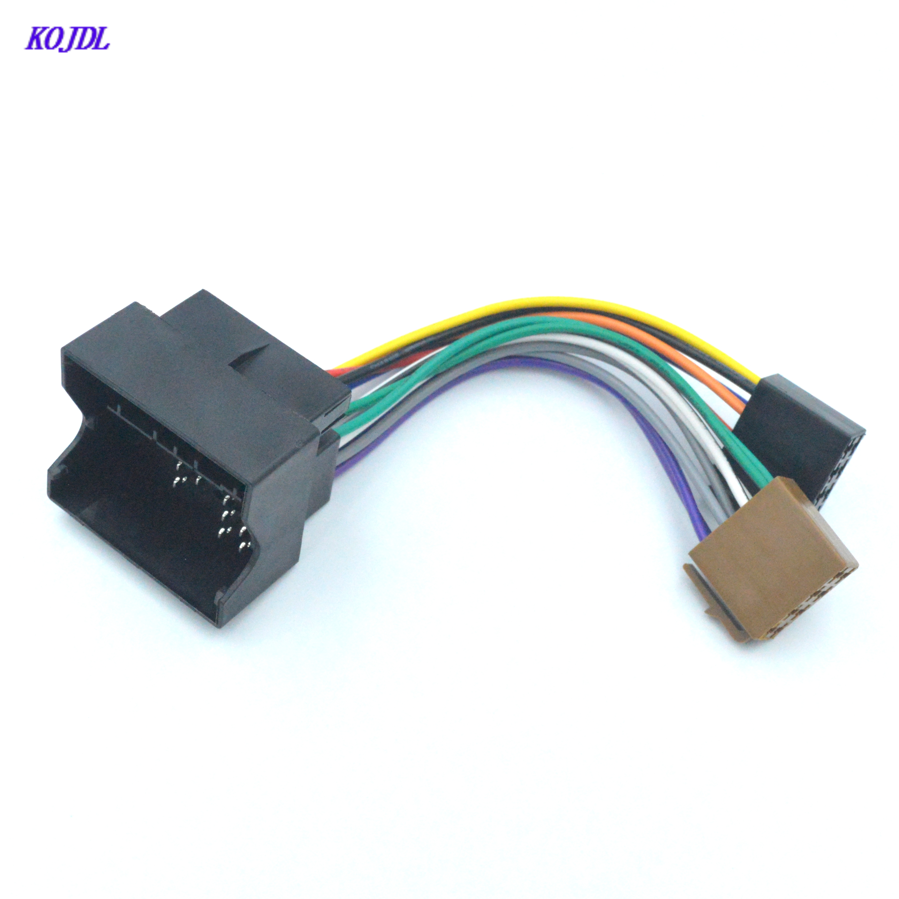 Car ISO Stereo Radio Wiring harness Adapter for Volkswagen Golf Passat Bora Fox Tiguan For Skoda Audi Plug iso Cable connector