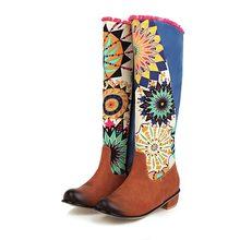 Ковбойские сапоги в ковбойском стиле для женщин; Сапоги до колена