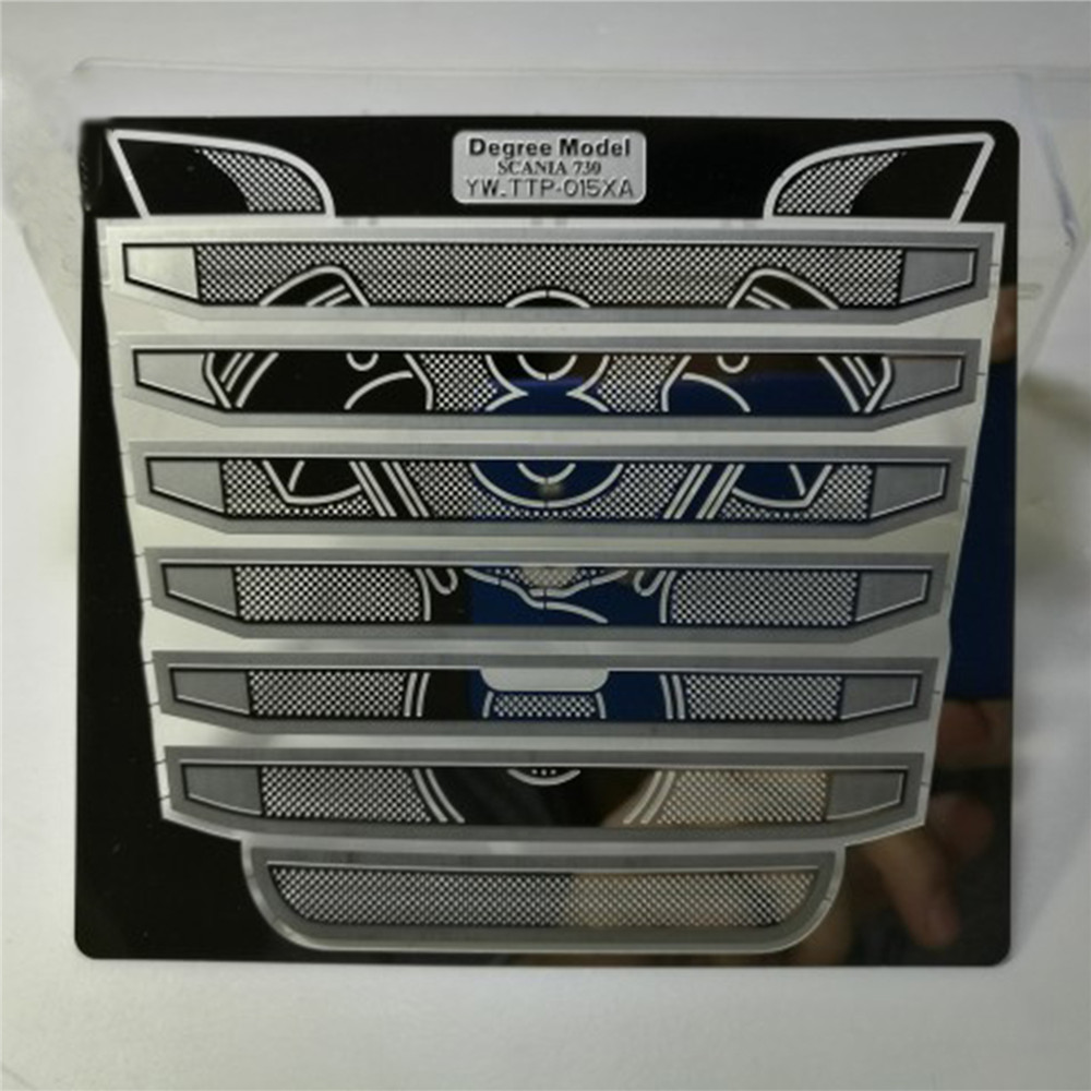 Decorative Metal Front Intake Grille Cover For 1/14 Tamiya Scania R730 RC Truck Tractor Modification Parts Accessories