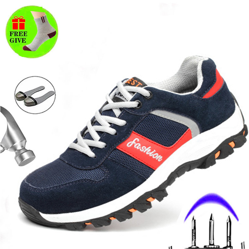 High Quality Labor Insurance Shoes Four Seasons Non-slip Wear-resistant Men's Safety Shoes Anti-smashing Puncture Work Boots