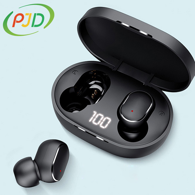 PJD TWS słuchawki Bluetooth bezprzewodowe słuchawki douszne do Xiaomi Redmi AirDots słuchawki z redukcją szumów z mikrofonem słuchawki głośnomówiące