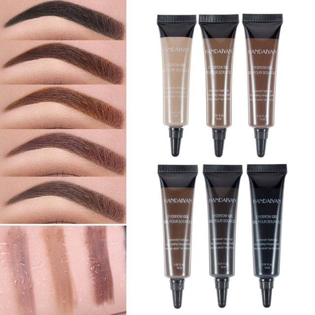 Natural 6 Colors Liquid Dyeing Eyebrow Cream Set Waterproof Durable Brown Tint Eyebrow Henna Mascara Eyebrows Paint Makeup 4