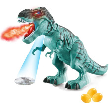 Electronic Dinosaur Toy Simulated Flame Spray Tyrannosaurus T-Rex Walking Dinosaur Toy Water Spray Red Light & Realistic Sounds