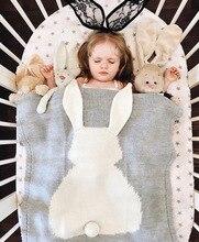 Baby Blankets Newborn 2020 Rabbit Knitting Blanket Bedding Quilt for Bed Sofa Stroller Wrap Infant Swaddle Photography Props baby blankets newborn flannel swaddle wrap blanket super soft toddler infant bedding quilt for bed sofa basket stroller blankets