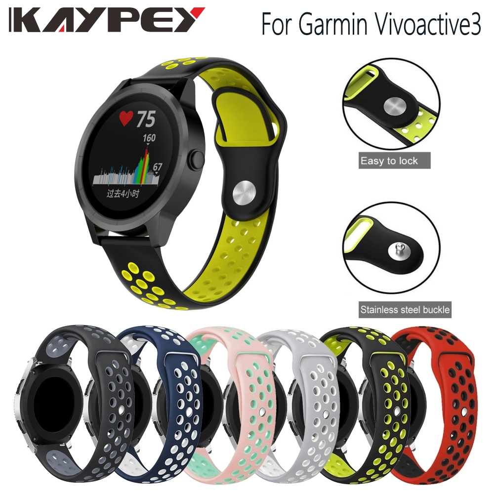 Replacement Watch Strap Wrist Band For Garmin Vivoactive3 Vivoactive 3 Sports Bracelet Colorful Silicone Breathable Wristband
