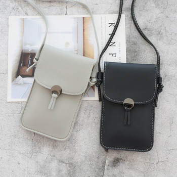Women Phone Bag  Wallets Leather Shoulder Transparent Bag Student Card Holders Women Handbag Ladies Clutch Purse 2020 New women cell phone bag shoulder transparent bag card holders girl handbag ladies pu leather clutch phone wallets purse 2020