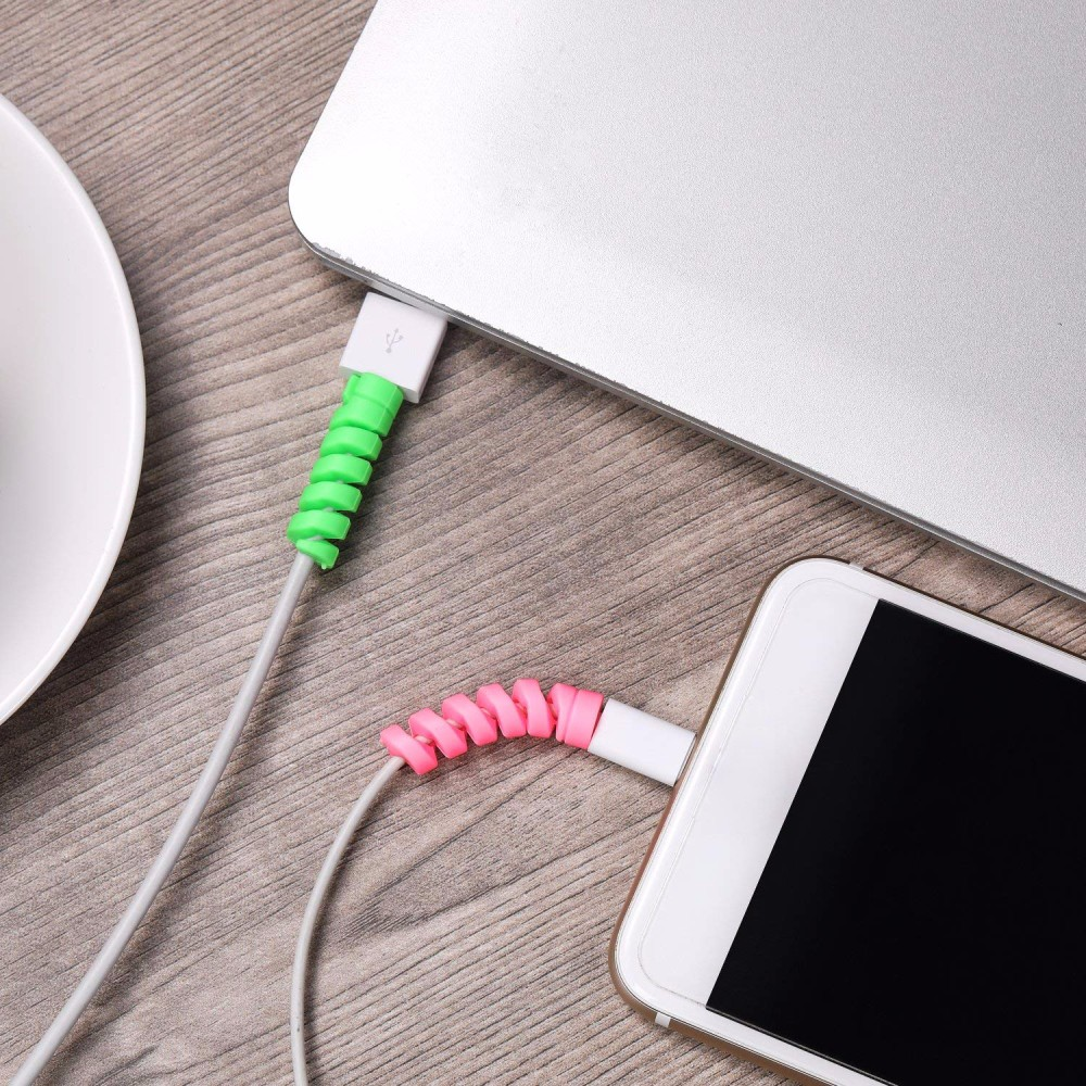 H1d1e3bc9dc9a4dc09f22819ce6df96dbu 2pcs Protector Saver Cover for Apple Phone 8X for USB Charger Cable Cord Cable Adorable Protective Sleeve Cable Accessory