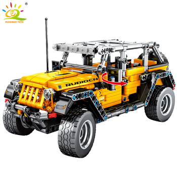 HUIQIBAO 601pcs Racing Car Speed Champions Jeeped Building Blocks Technic City  Sport Pull Back Vehicle Bricks Toys For Child недорого