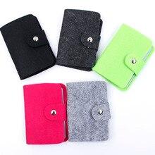 Korean Style 24 Bit Pouch ID Credit Business Card Wallet Holder Organizer Case Pocket Women Men