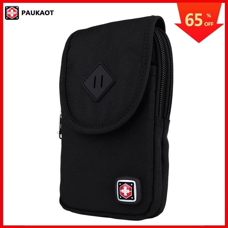 PAUKAOT Men Waist Packs Cell Phone Fanny Pack Waterproof Bum Hip Belt Bag Zipper Pouch Purse Small Pockets For Men