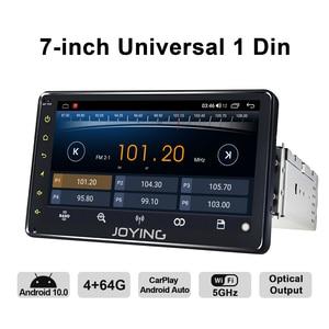 "Image 2 - אוניברסלי 1din אנדרואיד רכב רדיו GPS מולטימדיה נגן אנדרואיד 10.0 HD 7 ""רכב ראש יחידת 4GB + 64GB עם 5G WIFI/4G Carplay BT 5.1"