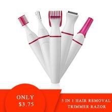 Razor Shaver Bikini Trimmer Hair-Removal Shaving-Machine Eyebrow Electric 5-In-1 Underarm