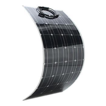 Hot Sale 100w 200w flexible solar panel 18V for 12V solar battery charger monocrystalline solar cell panel solar home system kit 2