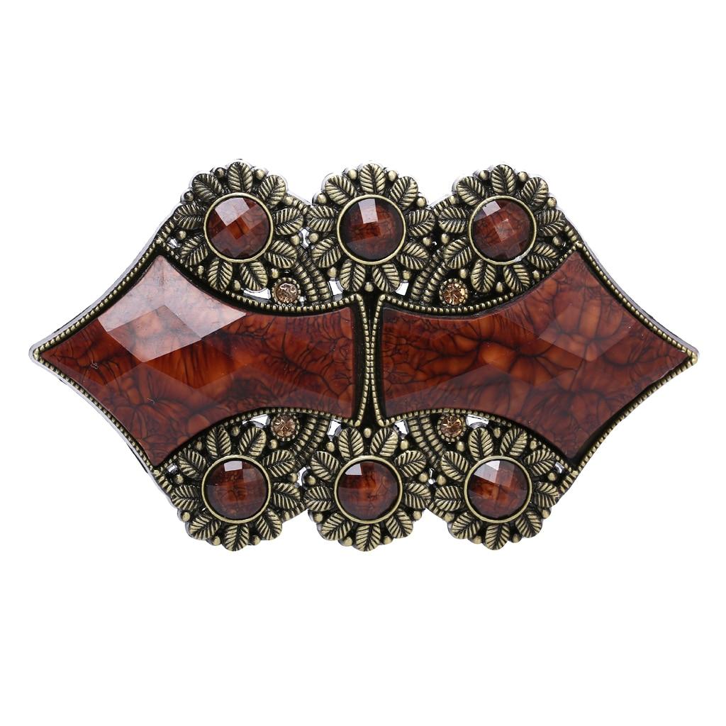 Women Vintage Boho Style Belt Buckle Daisy Shape Design Fashion Accessory
