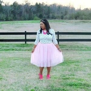Image 3 - Summer Joker Tutu Skirt Women Plus Size Pleated  Green  Jupe Femme Faldas Rokken Custom Made 7 Layers Tulle  5XL