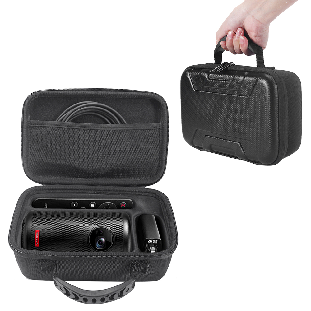 Hard EVA Travel Carrying Bag Protective Storage Box Case For Anker Nebula Capsule II Smart Mini Projector Drive And Accessories