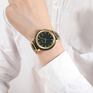 Image 5 - ヒスイ腕時計メンズダークグリーンダイヤルカレンダー表示自動クォーツ時計と証明書革ボックスレロジオmasculino 2020