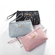 Cosmetic-Bag Women Cute Fashion Black Lace Girls Hot-Sale High-Quality