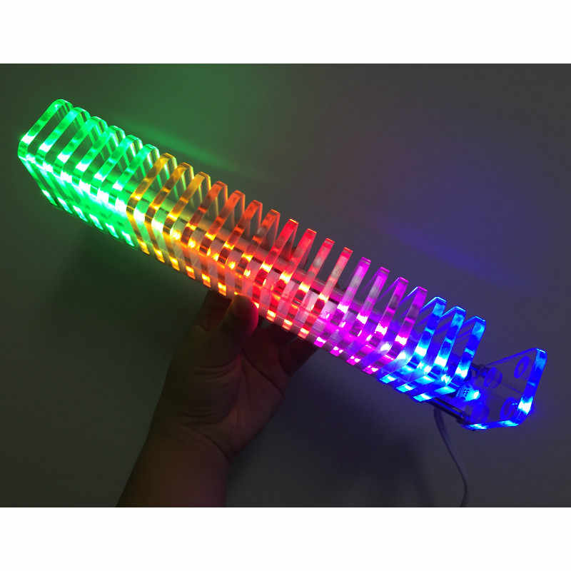 KS25 שליטת קול VU מטר גביש עמודת קול אודיו LED מוסיקה ספקטרום DIY ערכות VU מגדל עבור בית תיאטרון