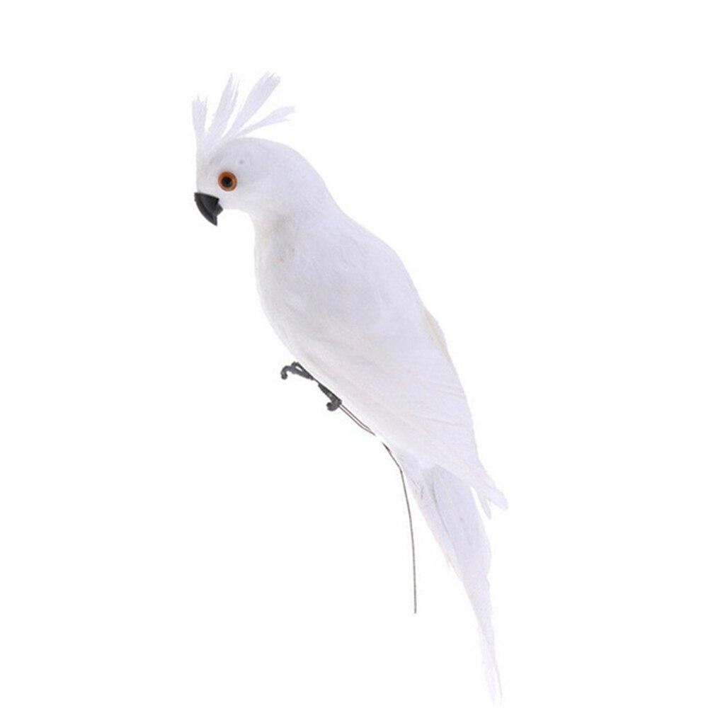 Статуэтка орнамент статуи животных имитация птицы реалистичные Красивые пены дерево газон домашний сад двор Декор - Цвет: White