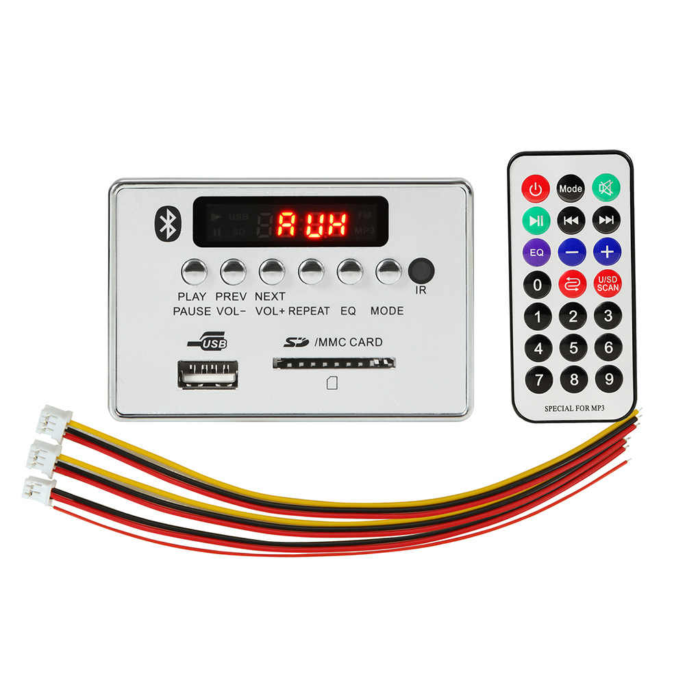 1 stücke Neue Bluetooth Hände-freies MP3 Decoder Board Modul Auto USB MP3 Player Integrierte Fernbedienung USB FM aux Radio für Auto