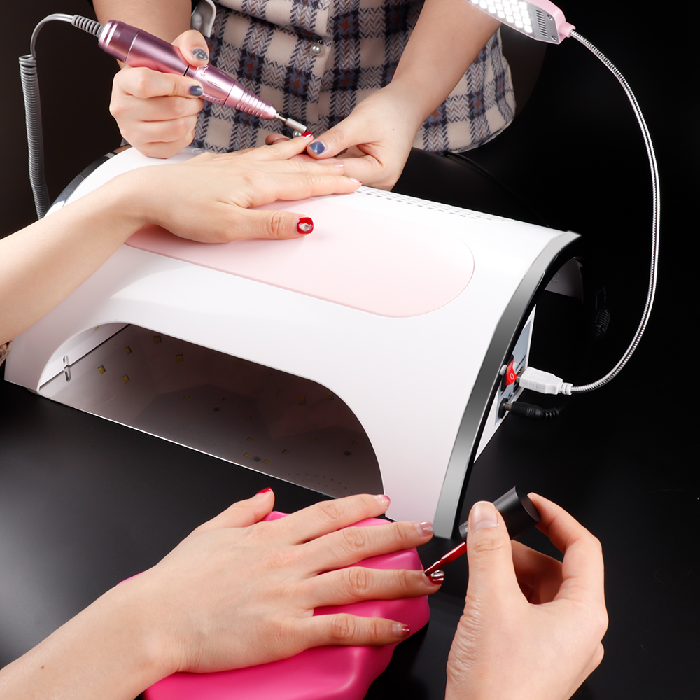 Image 5 - 54W Nail LED UV Lamp Vacuum Cleaner Suction Dust Collector 25000RPM Drill Machine Pedicure Remover Polisher Nail Tools-in Nail Art Equipment from Beauty & Health