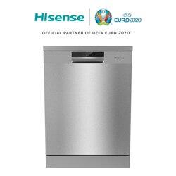 Hisense HS6130X посудомоечная машина, класс + + +, 3 корзины, 60 × 84,8 × 59,6 см, 16 столовых приборов, быстрая стирка, внутренняя часть из нержавеющей стали