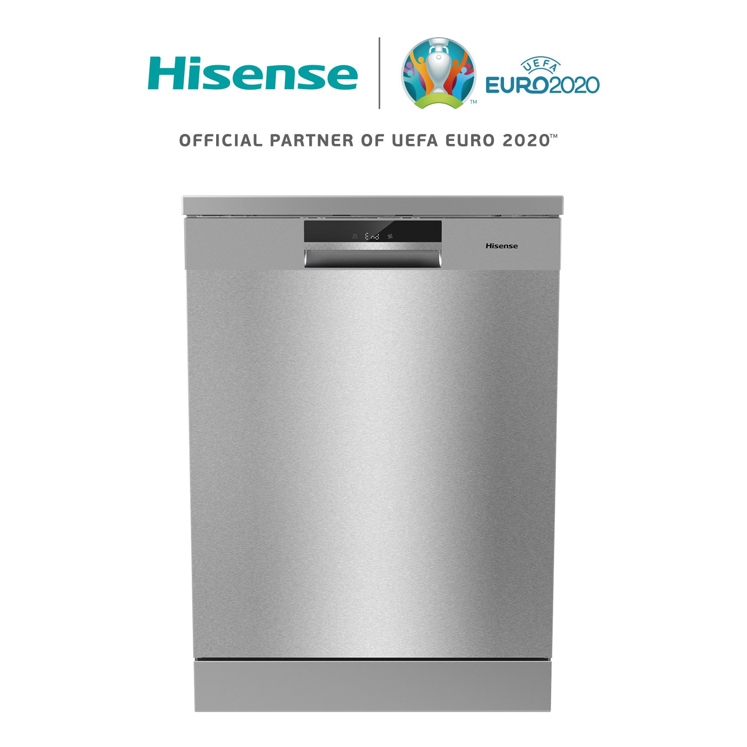 Hisense HS6130X Dishwasher, A Class +++, 3 Baskets, 60 × 84,8 × 59,6 Cm, 16 Cutlery Quick Wash, Stainless Steel Inner
