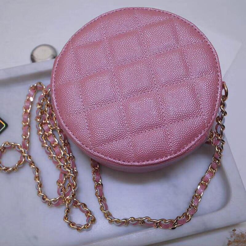 Bolso redondo de moda 2019 para mujer, Mini bolso Circular para mujer, bolso de fiesta para mujer, bolso de cadena con bandolera, bolso de marca para mujer - 3