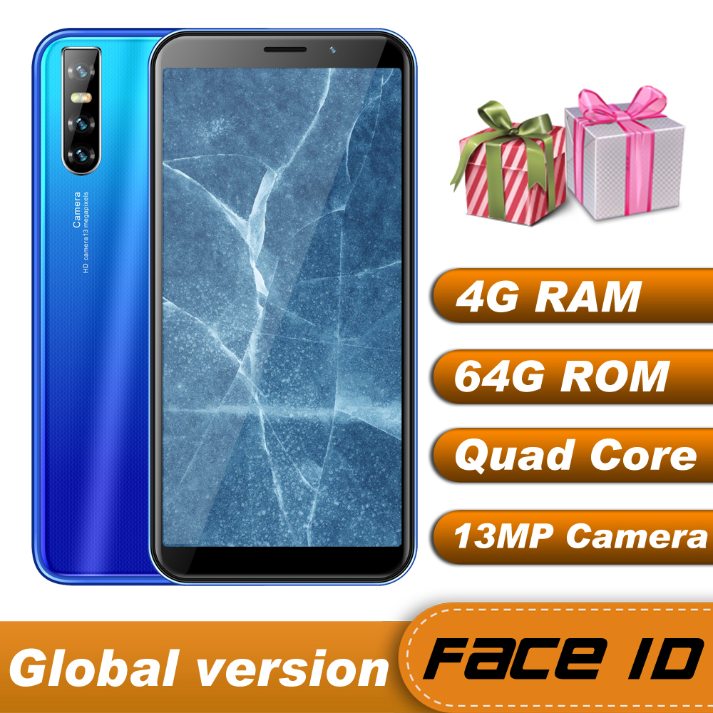 4 ГБ ОЗУ 64 Гб ПЗУ, четырёхъядерный процессор Y6, оригинальные мобильные телефоны, 6,0 дюйма, 13 МП, глобальные смартфоны, Android, распознавание лица,...