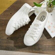 Women Canvas Shoes Spring Autumn Fashion White Student Sport