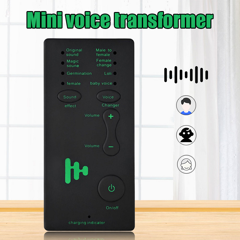 Wireless 7 Multi Voice Changer Microphone Disguiser Male/Female/Girl/Robot for PC Phone GK99