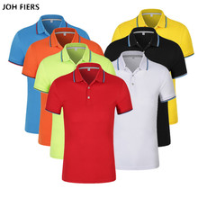 2019 Polo Shirts Men High Quality Cotton Short Sleeve Business Casual Solid Summer Sport Jerseys Golf Tennis Black