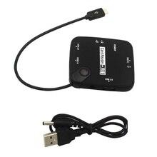 3 порта OTG USB 2,0 Питание адаптер концентратор памяти микро кардридер концентратор высокое качество(без usb-кабеля