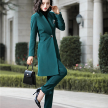 Fashion Uniform Styles Professional Business Suits for Women Office Work Wear Bl