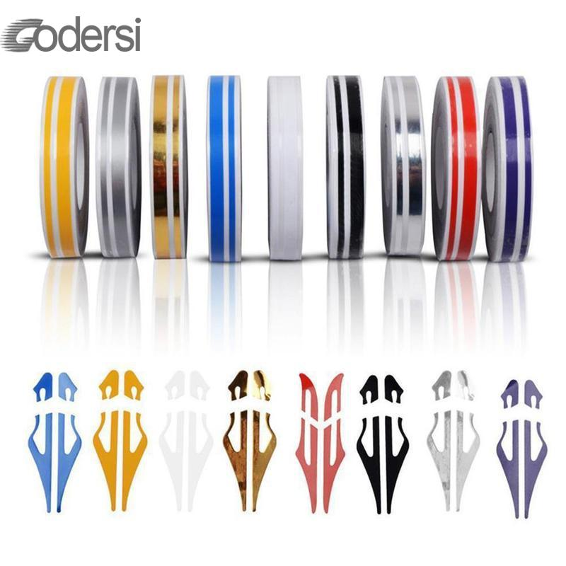 98M Pin Stripe Ribbon Sticker Bumper Car Body Stickers Double Line Motorcycle Car Styling Decoration Accessories 8 Colors