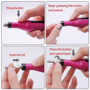 Image 5 - Juego de manicura y pedicura profesional, Mini bolígrafo portátil con USB de 15000 y 9W, taladro eléctrico para uñas, broca para cutículas de cerámica