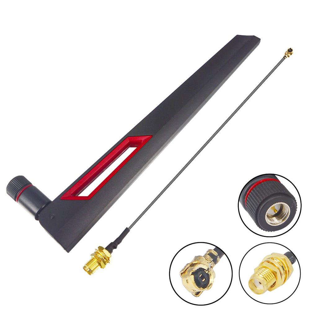 12 Dbi Dual Band WIFI Antenna 2.4G 5G 5.8Gh SMA Male Universal Antennas + UFL IPX To SMA Female Pigtail Cable