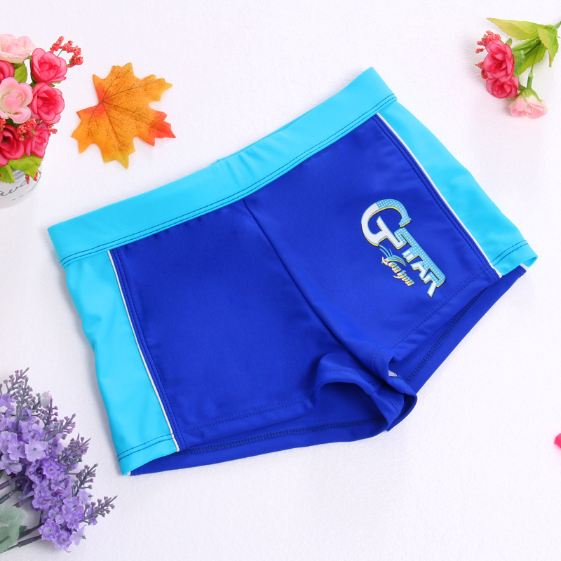 2017 Youyou KID'S Swimwear BOY'S Cartoon Swimming Trunks Boy Split Type Tour Bathing Suit Infant South Korea Baby Swimwear