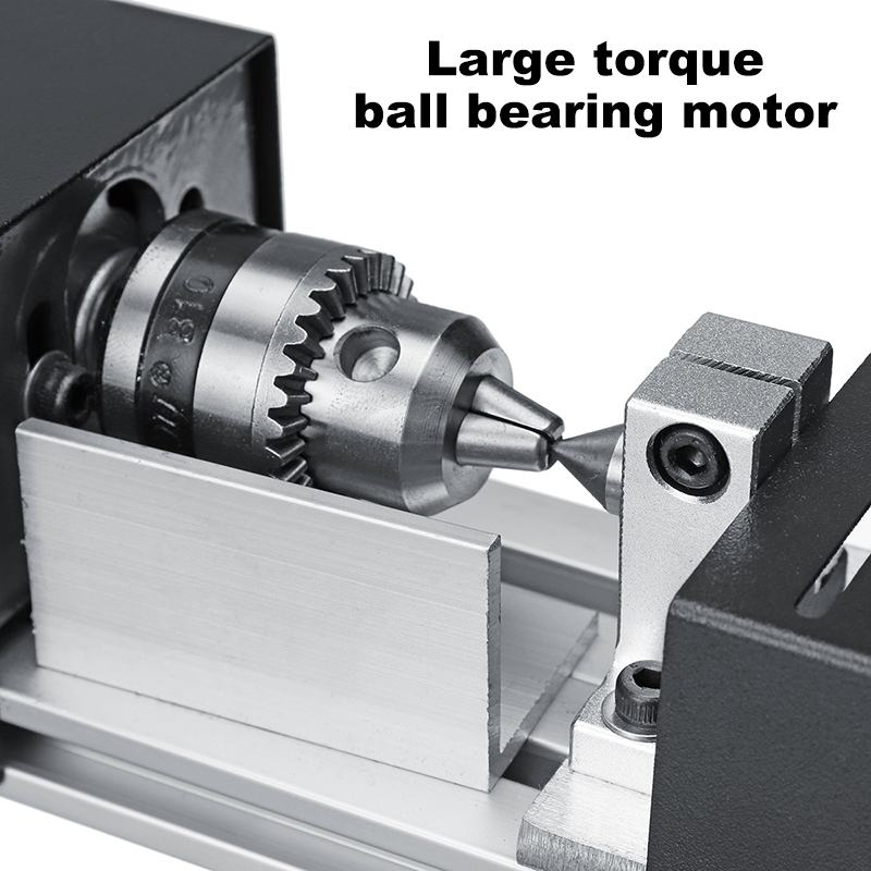 Image 4 - 200W CNC Mini Lathe Machine Tool torno DIY Woodworking Wood lathe Milling machine Grinding Polishing Beads Drill Rotary Tool Set-in Lathe from Tools