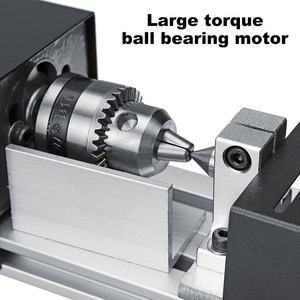 Image 4 - 200W CNC מיני מחרטה מכונת כלי torno DIY נגרות עץ מחרטה כרסום מכונת טחינת ליטוש חרוזים תרגיל רוטרי כלי סט