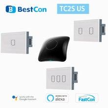 Умный настенный сенсорный выключатель broadlink bestcon tc2s