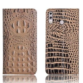 Business crocodile back pattern natural leather phone case for Asus Zenfone 5Z ZS620KL/Zenfone 5 2018 ZE620KL flip card cover