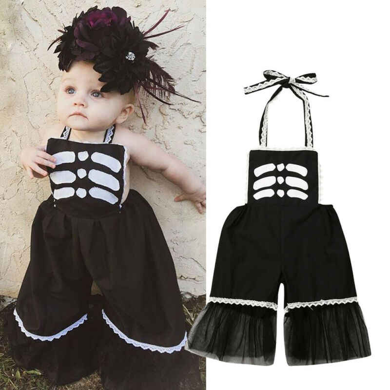 2019 Newest Hot Newborn Infant Baby Girls Kids Romper Jumpsuit Halloween Costumes Skeleton Rompers Clothes Outfit Playsuit