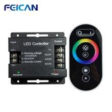LED de contrôle 12 24V tactile télécommande rvb contrôleur 24A 3 canaux LED bande lumière RF contrôle pour SMD5050 3528 RGB LED bande