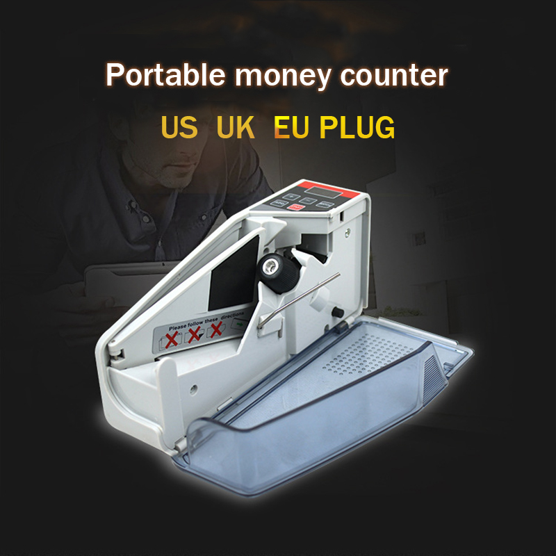Mini Money Currency Counting Machine Handy Bill Cash Banknote Counter Money Ac Or Battery Powered For Money Dollar Eu Us Uk